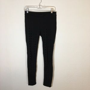 7 FOR ALL MANKIND Distressed Skinny Yoga Pants P